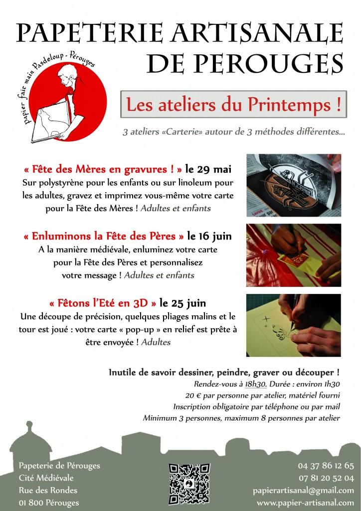Affiche Ateliers du Printemps