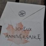 Carte Joyeux anniversaire modèle feuille