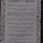 Texte imprimé Serment d'Hippocrate
