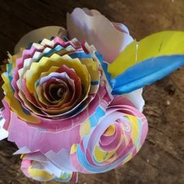 Bouquet de roses marbrées