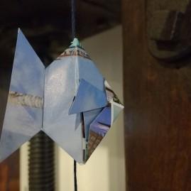 Mobile de poissons en origami