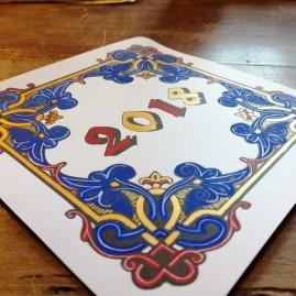 Enluminure de cartes de vœux