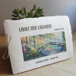 Carnet aquarelle Pont japonais