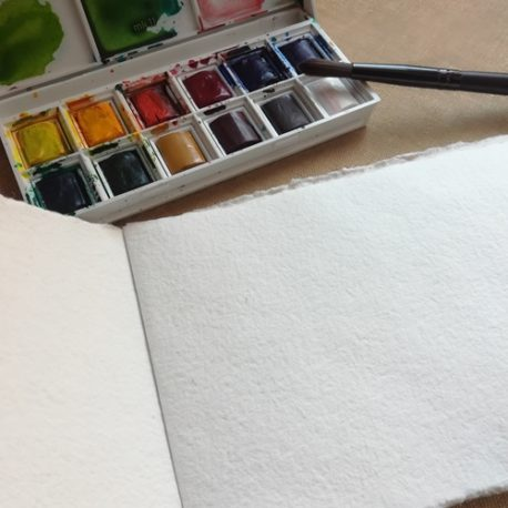 Carnet aquarelle - Page intérieure