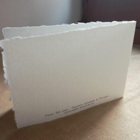 Carte imprimée - Verso