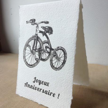 Carte Joyeux anniversaire Vélo vintage