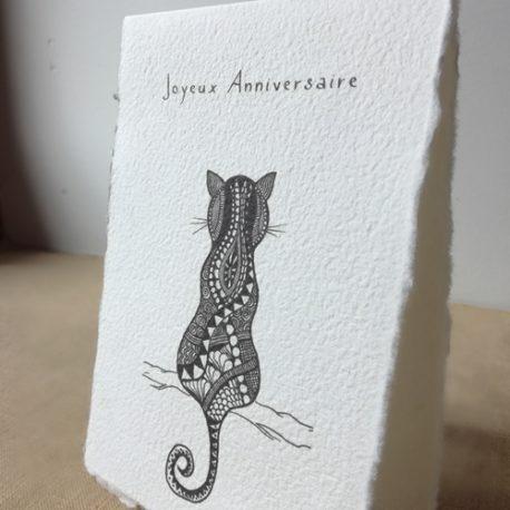 Carte Joyeux anniversaire Chat