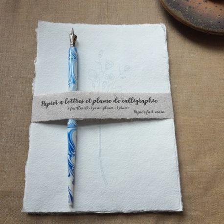 Papier à lettres Fleur filigranée