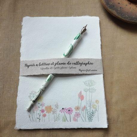 Papier à lettres Bordure fleurie