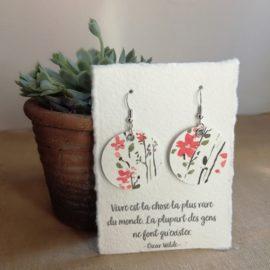 Boucles d'oreilles en papier Fleurs