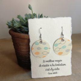Boucles d'oreilles en papier Pastel