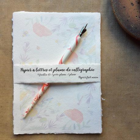 Papier à lettres prairie fleurie