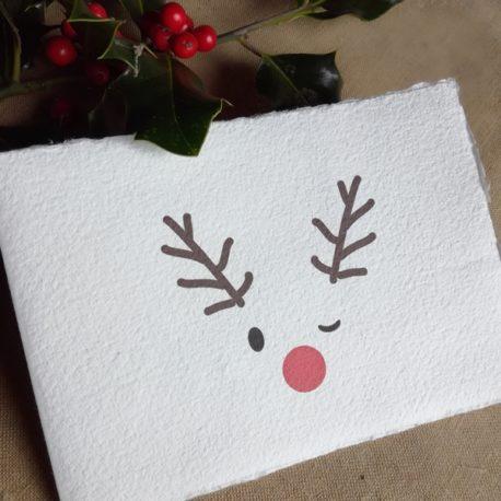 Cartes de Noël en papier fait main